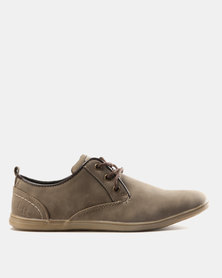 Luciano Rossi PU Plimsoll Shoes Taupe