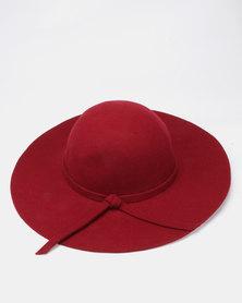 Unseen Iris Daisy Wool Hat Maroon