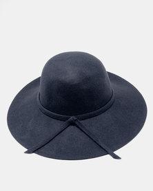 Unseen Daisy Wool Hat Navy
