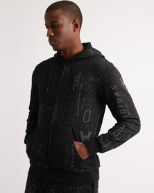 adidas AOP Subtle FZ Hoodie Black
