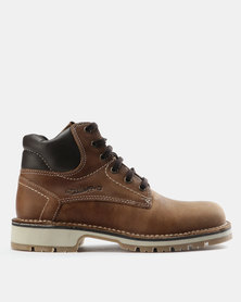 Grasshoppers Ranger Leather Boots Tan/Off White