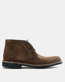 Grasshoppers Kyle Suede Casual Lace Up Shoes Coffee/Navy