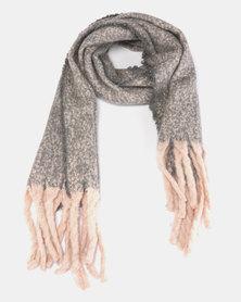 Lily & Rose Medium Knit Scarf Light Grey
