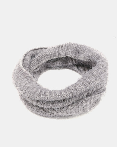 Lily & Rose Knitted Grey Snood Grey