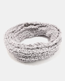 Lily & Rose Knitted Scarf Grey