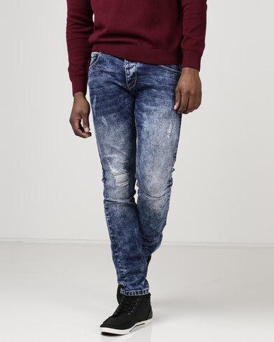 90d0a439 KSTR Lavazza Slim Fit Denim Jeans Dark Blue | Zando