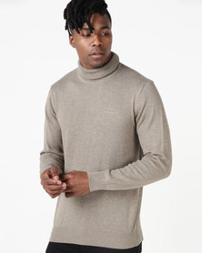 Klevas Polar Polo Neck Knitwear Taupe