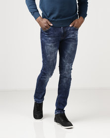 K Star 7 Ken Skinny Jeans Indigo