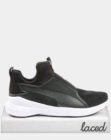 Puma Rebel Mid Womens Sneakers Black/White
