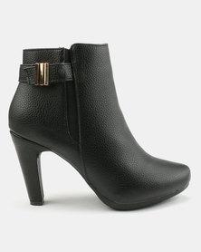 Bata Dress Heeled Ankle Boots Black