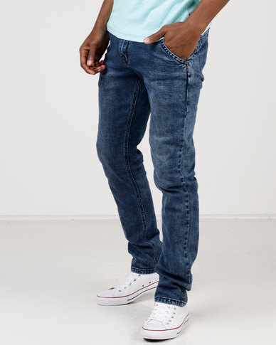 Soviet Brutus Slim Leg Jeans Marble Wash