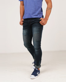 Soviet M Crews #4 Fashion Skinny Biker Denims Blue Black