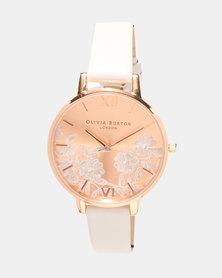 Olivia Burton Lace Detail Watch Blush & Rose Gold-tone
