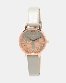 Olivia Burton Lace Detail Watch Grey/ Rose Gold-tone