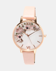 Olivia Burton Signature Florals Watch Dusty Pink/Rose Gold-tone