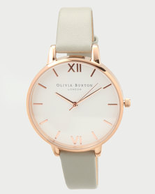 Olivia Burton White Dial Watch Grey/Rose Gold-tone