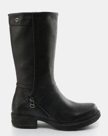 Bronx Lindiwe Knee High Boots Black