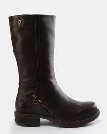 Bronx Lindiwe Knee High Boots Brown