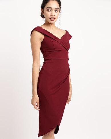 Sissy Boy Bardot Midi Dress Red  6da2c1c7c