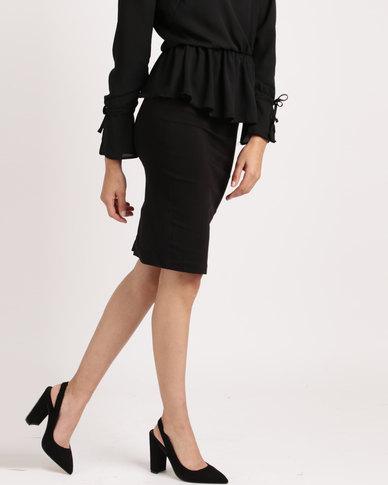 Sissy Boy High Waist Skirt Black