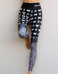 Vivolicious Bella Tech Leggings Black White