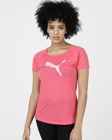 Puma Performance Core-Run S/S Logo Tee W Paradise Pink