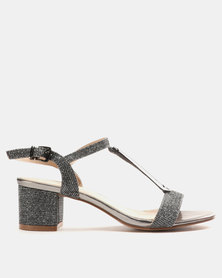 Miss Black Saniya Low Heels Pewter
