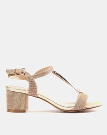 Miss Black Saniya Low Heels Rose Gold