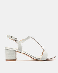 Miss Black Saniya Low Heels Silver
