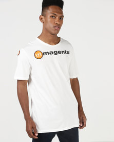 Magents Crew Neck Big Logo Short Sleeve Tee White