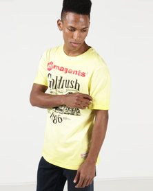 Magents Iconic Goldrush Print Tee Yellow