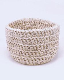 MARADADHI TEXTILES Medium Woven Basket Natural