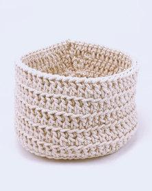 MARADADHI TEXTILES Large Woven Basket Natural