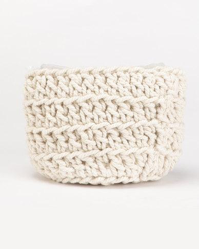 MARADADHI TEXTILES Small Woven Basket Natural