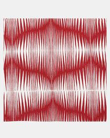 MARADADHI TEXTILES Zebra Scatter Cushion Cover Red