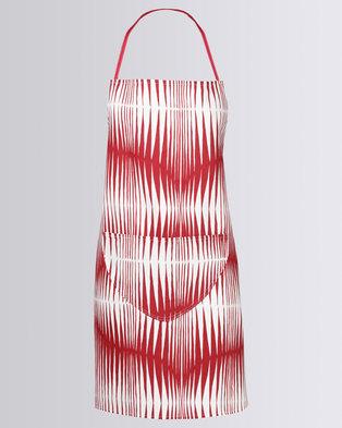 MARADADHI TEXTILES Zebra Apron Red/White