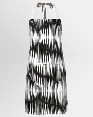 MARADADHI TEXTILES Zebra Apron Black/White