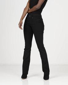 Sissy Boy Mid-rise Trousers Black
