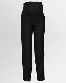 Cherry Melon Herringbone Cigar Leg Pants Black
