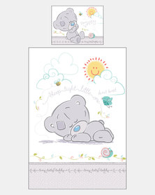 Character Brands Tatty Teddy Baby Camp Cot Comforter Set Grey