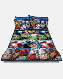 Character Brands The Avengers Duvet Cover Set Multi