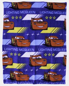 Character Brands Cars Flannel Fleece Throw Blue
