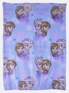 Frozen Flannel Fleece Throw Blue
