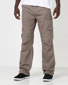 Samson M Cargo Trousers Taupe