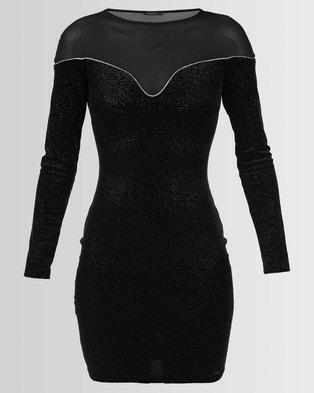 Sissy Boy Mesh Inset Bodycon Dress Black 9b9d55d3c