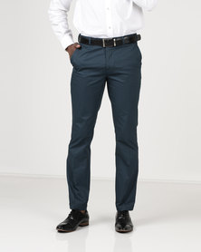 Crockett & Jones Slim Chinos Teal