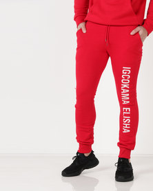 Cutty C Imilingo Maskandi Trackpants Red