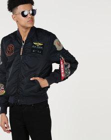 Alpha Industries MA-1 Fashion Pilot Jacket Rep Blue
