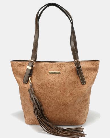 Blackcherry Bag Hand Bag Tan/ Olive Green