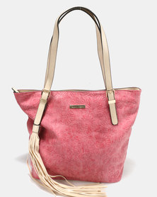 Blackcherry Bag Handbag Red/ Beige